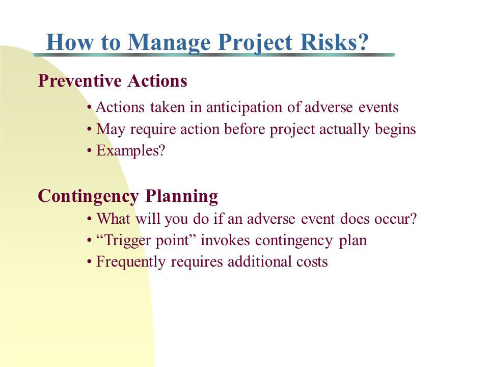 How to Manage Project Risks