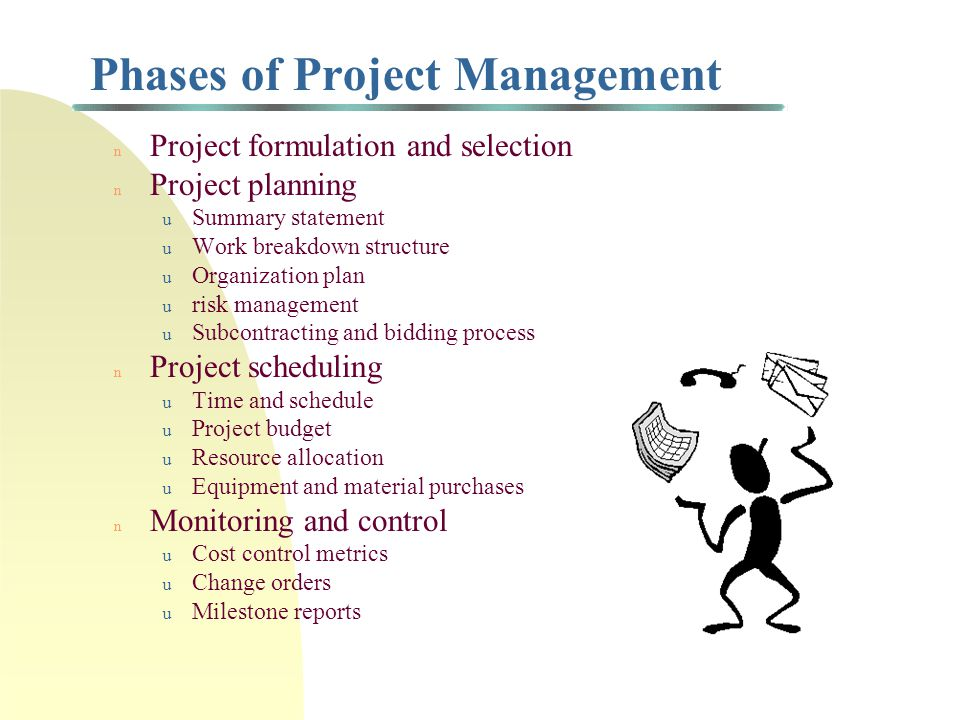 Outline of project management