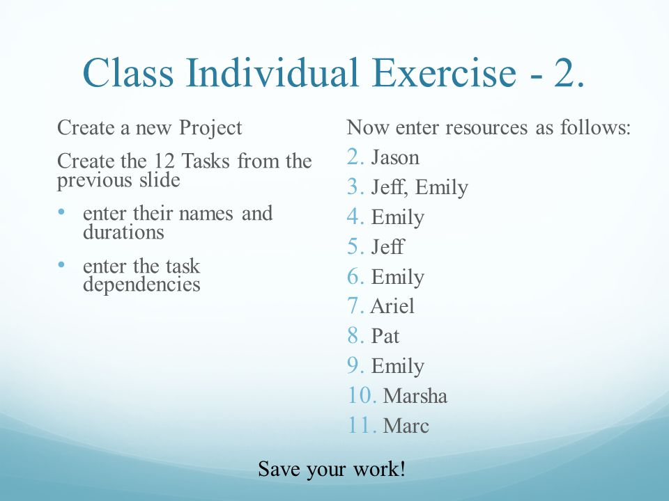 Class Individual Exercise - 2.