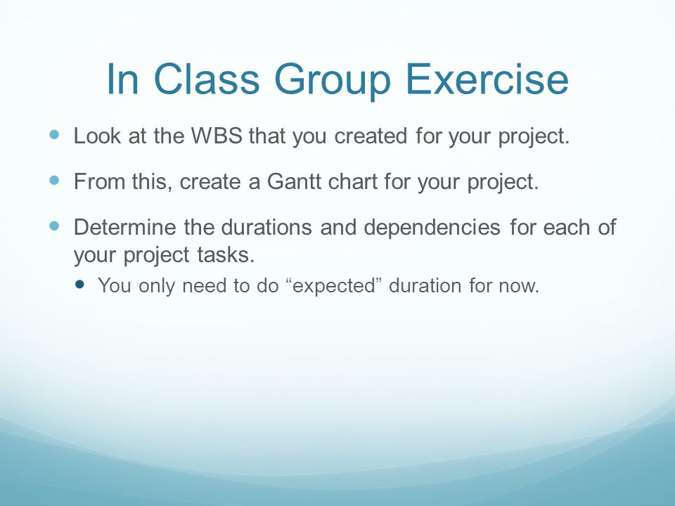 In Class Group Exercise
