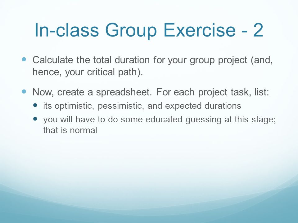 In-class Group Exercise - 2