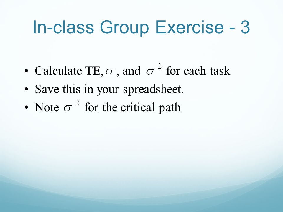 In-class Group Exercise - 3