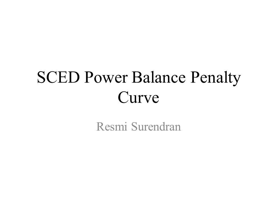 SCED Power Balance Penalty Curve