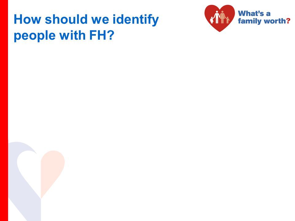 How should we identify people with FH