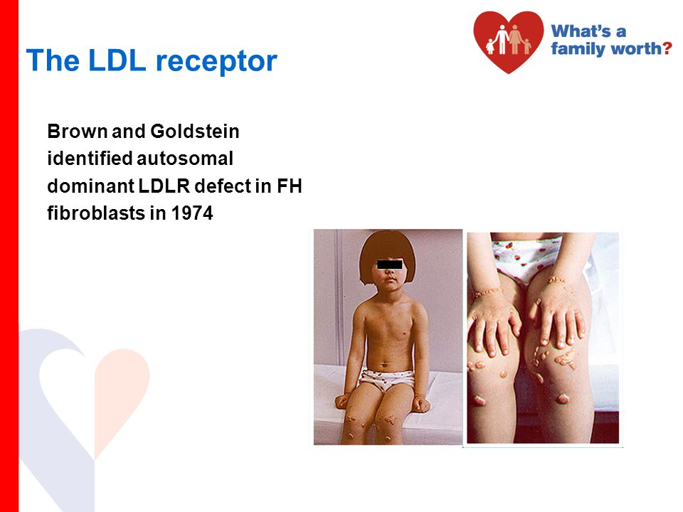 The LDL receptor Brown and Goldstein identified autosomal