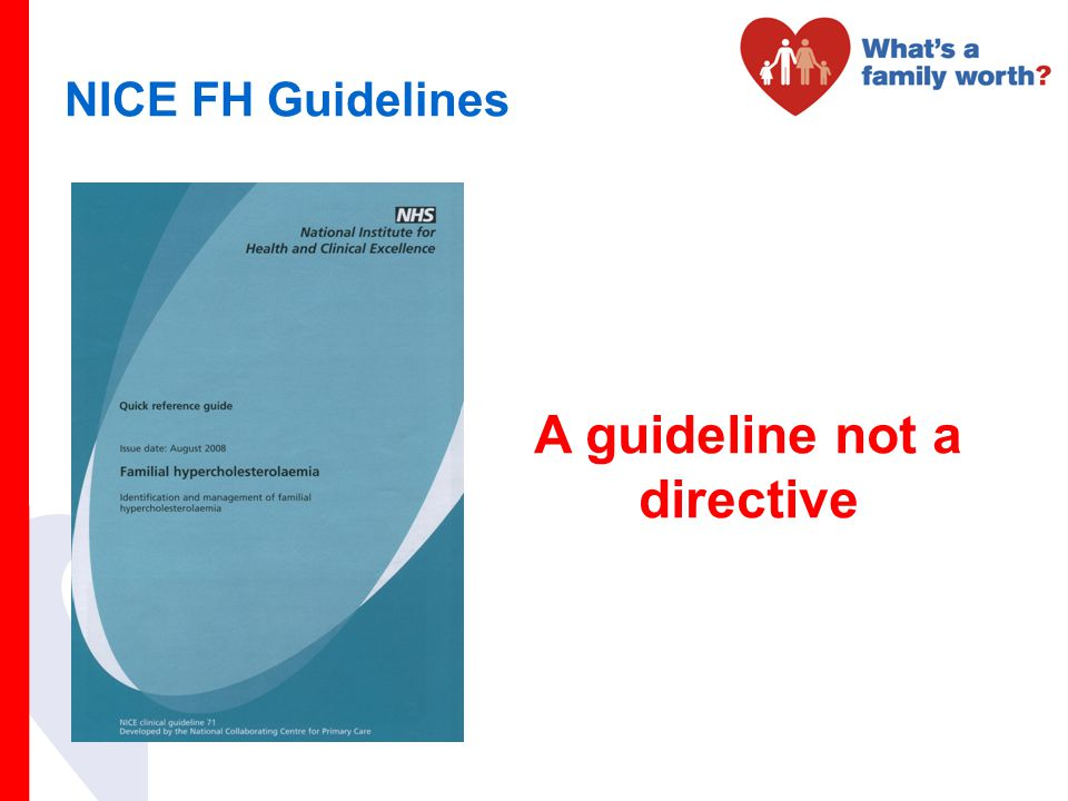 A guideline not a directive