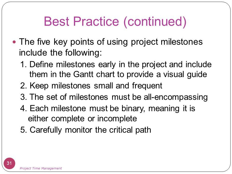 Best Practice (continued)