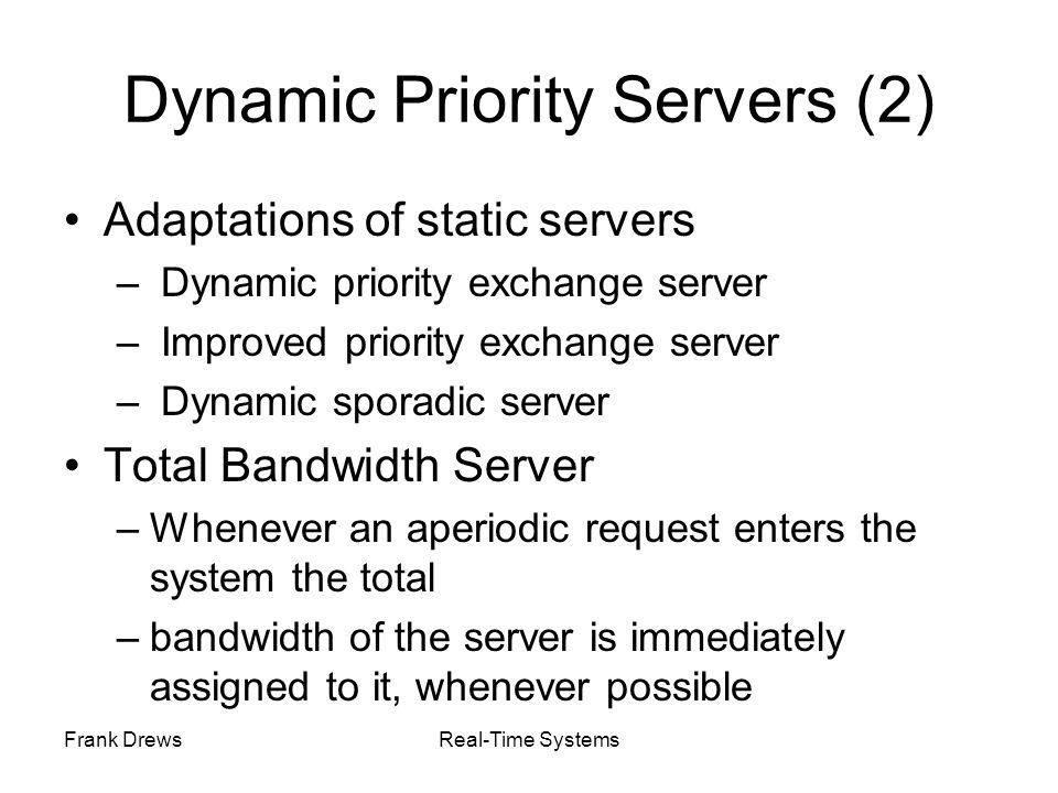 Dynamic Priority Servers (2)