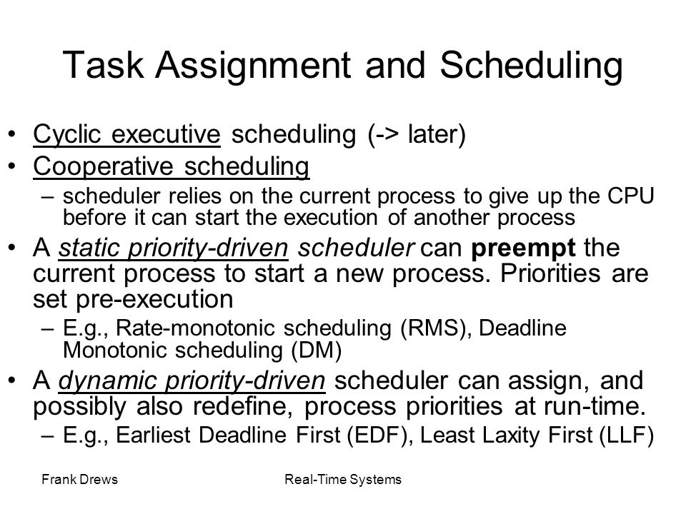 Task Assignment and Scheduling