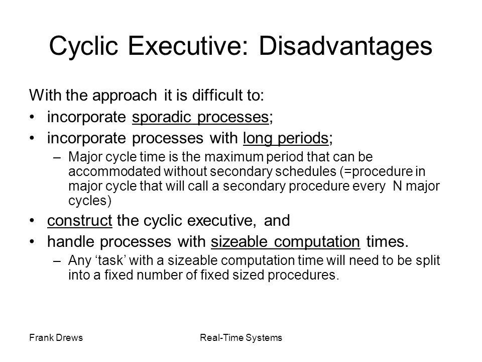 Cyclic Executive: Disadvantages