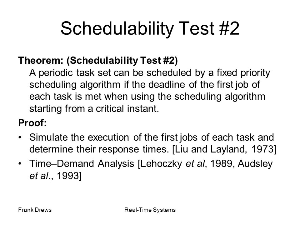 Schedulability Test #2