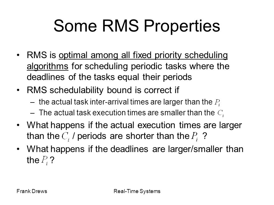 Some RMS Properties