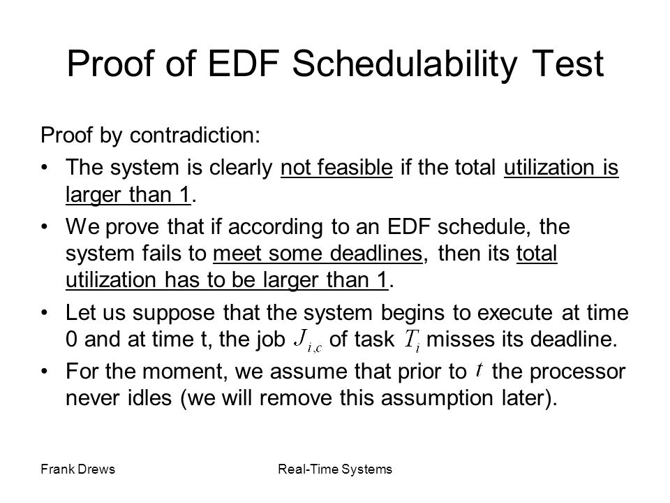 Proof of EDF Schedulability Test
