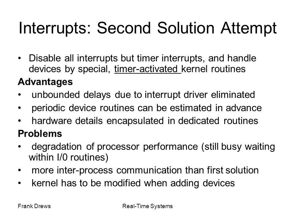 Interrupts: Second Solution Attempt