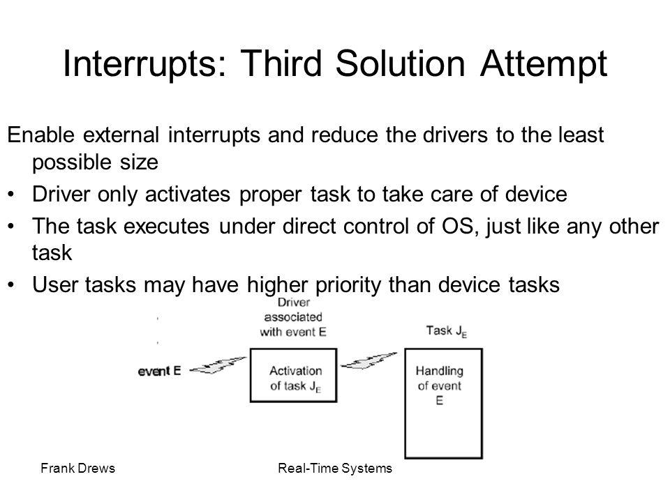 Interrupts: Third Solution Attempt