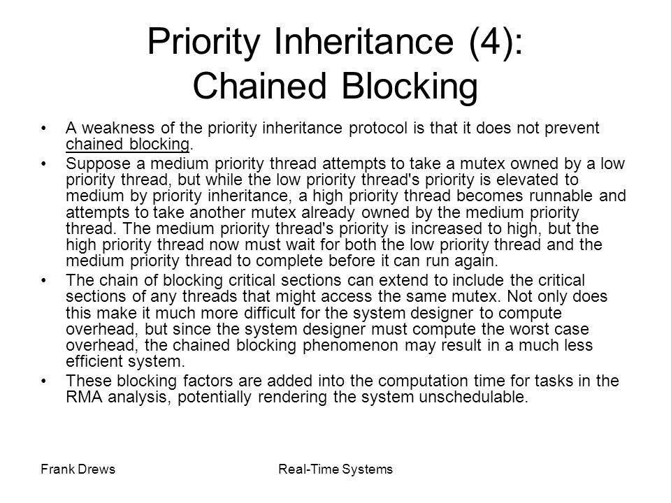 Priority Inheritance (4): Chained Blocking