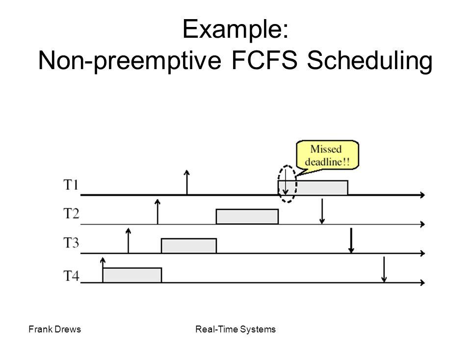 Example: Non-preemptive FCFS Scheduling