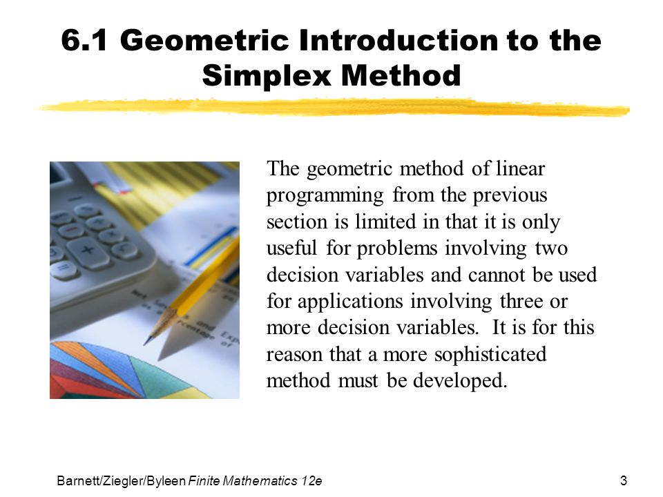 6.1 Geometric Introduction to the Simplex Method