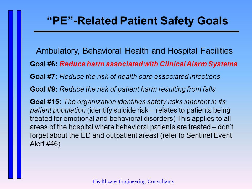 PE -Related Patient Safety Goals