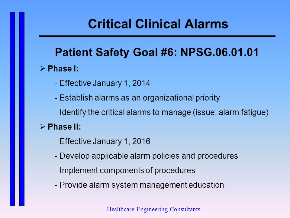 Critical Clinical Alarms