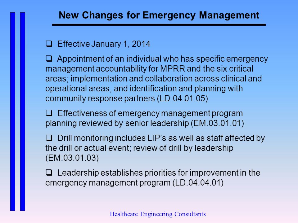 New Changes for Emergency Management