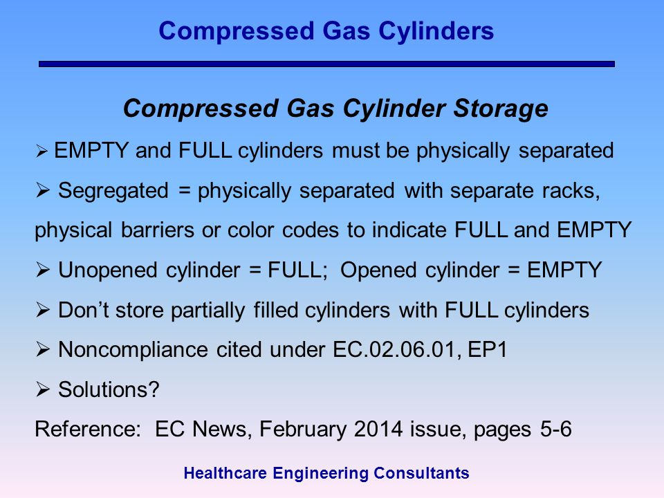 Compressed Gas Cylinders Compressed Gas Cylinder Storage