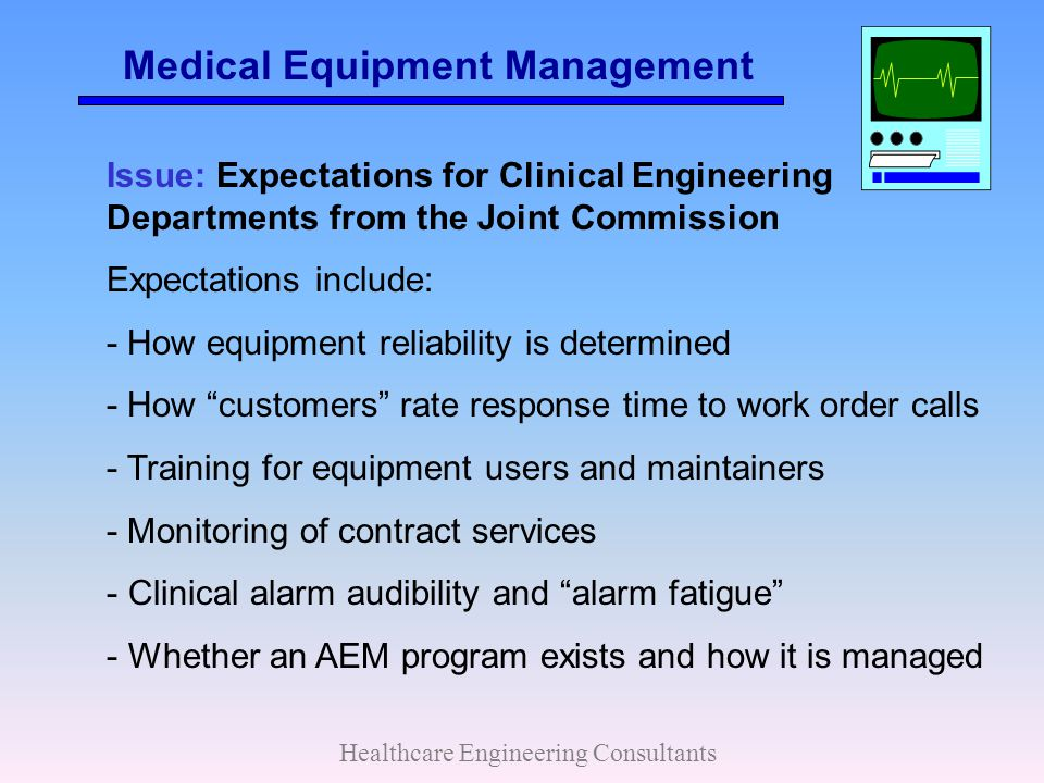 Medical Equipment Management