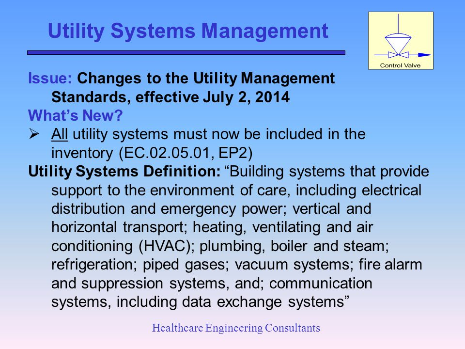 Utility Systems Management