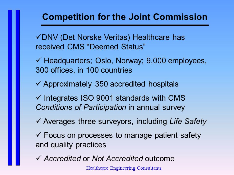 Competition for the Joint Commission