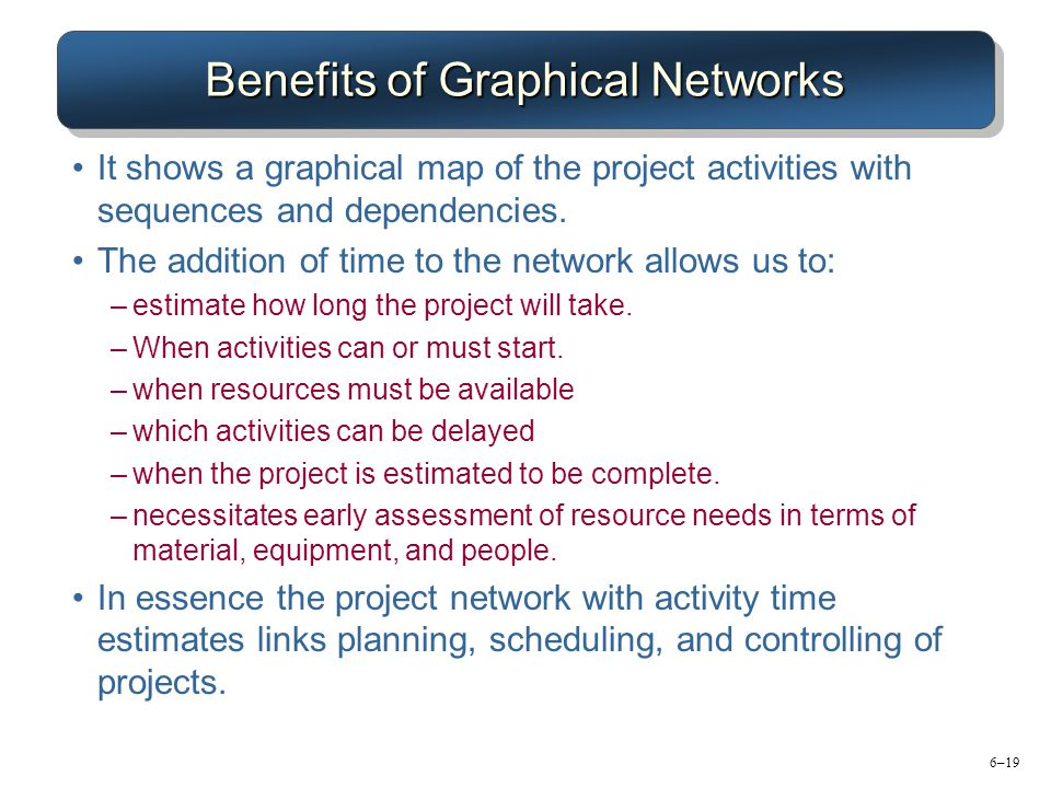 Benefits of Graphical Networks