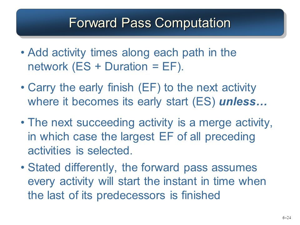 Forward Pass Computation