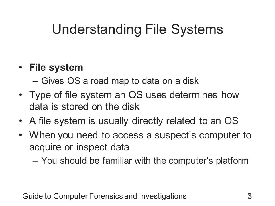 Understanding File Systems