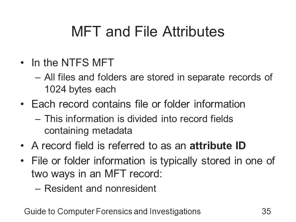 MFT and File Attributes