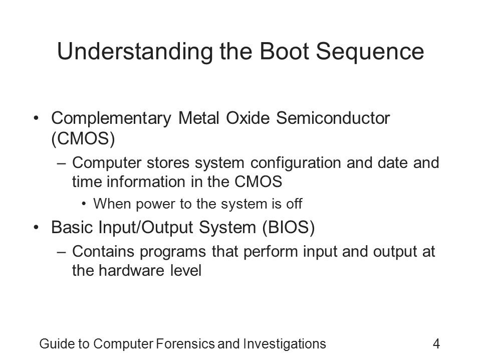 Understanding the Boot Sequence