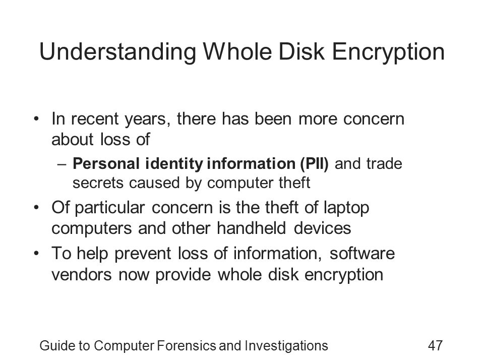 Understanding Whole Disk Encryption