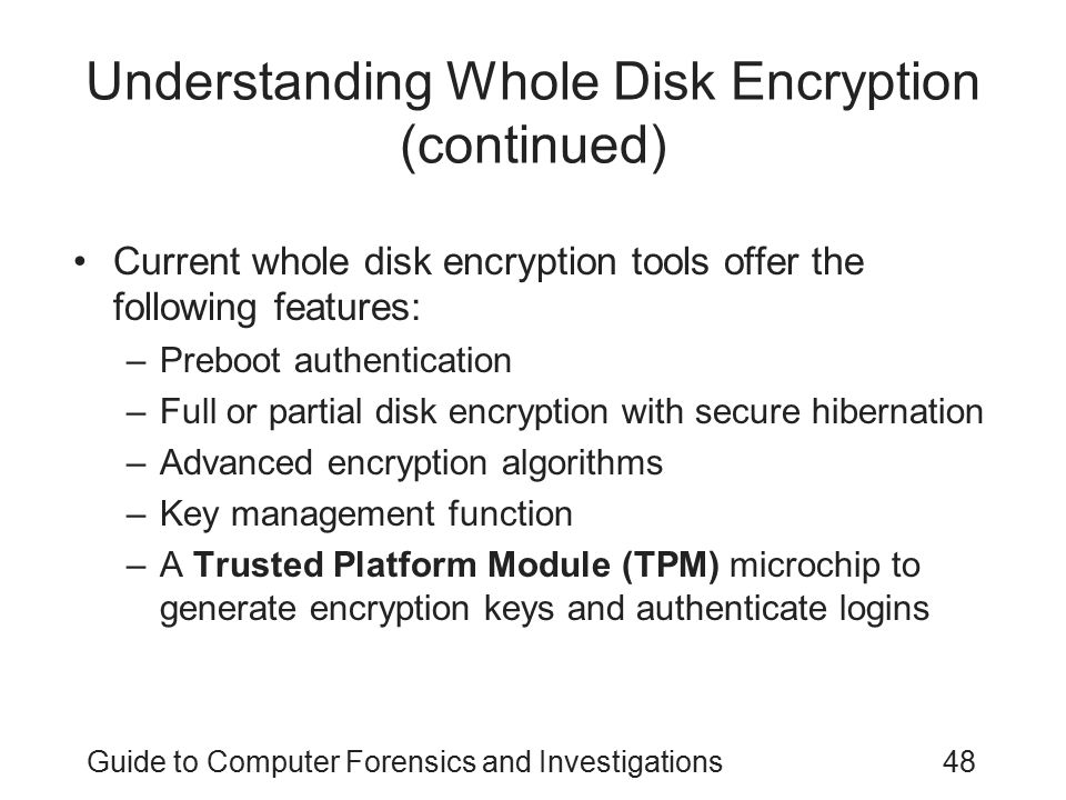 Understanding Whole Disk Encryption (continued)