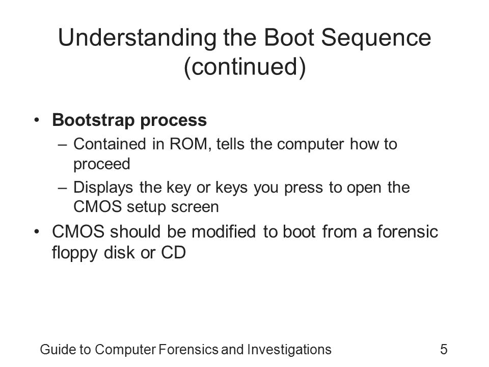 Understanding the Boot Sequence (continued)