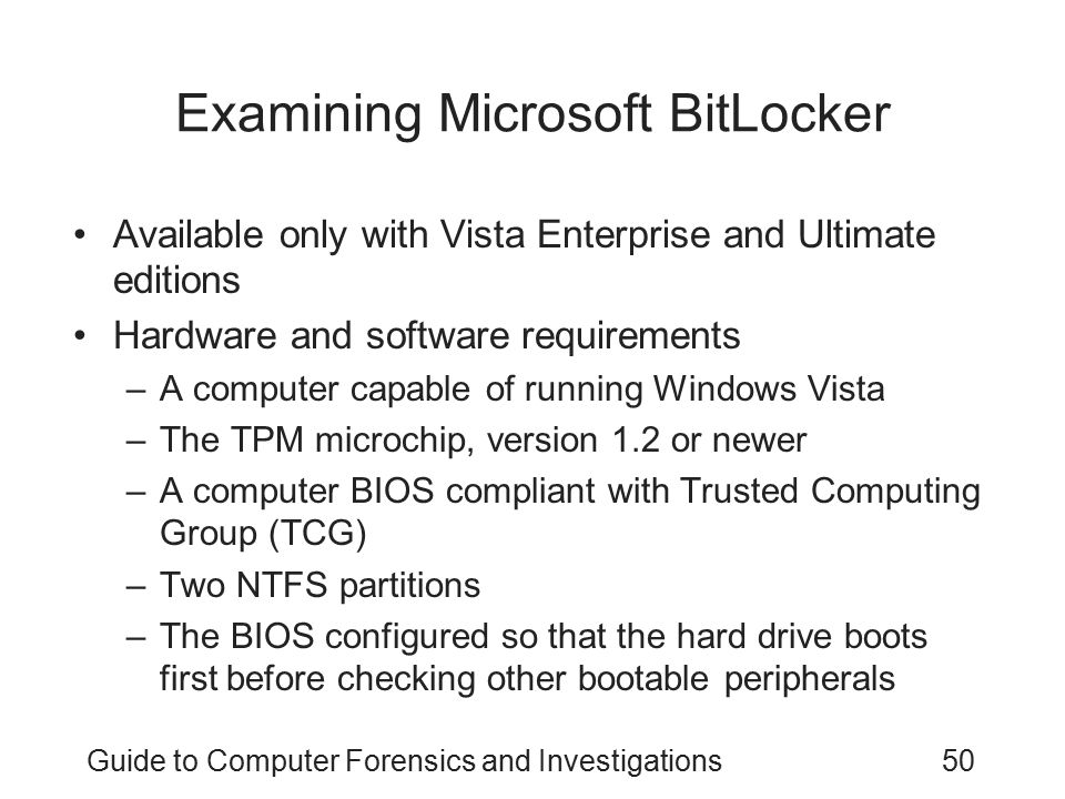 Examining Microsoft BitLocker