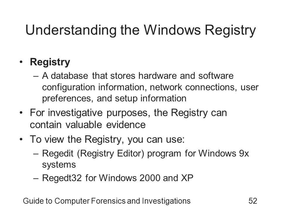 Understanding the Windows Registry