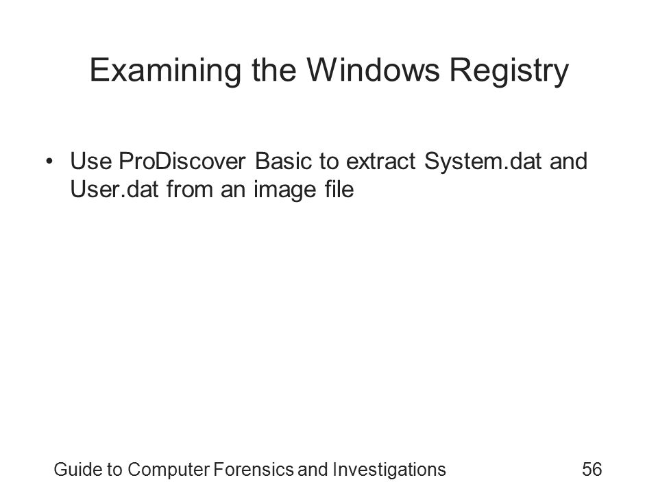Examining the Windows Registry