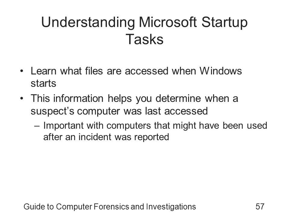 Understanding Microsoft Startup Tasks