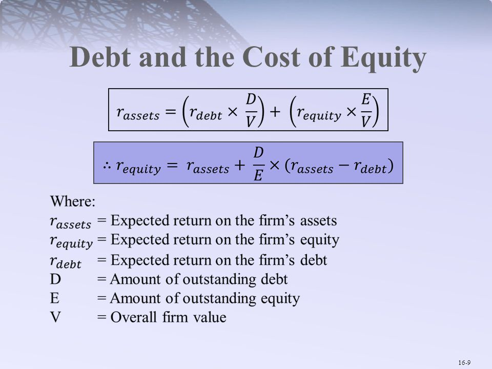Debt and the Cost of Equity