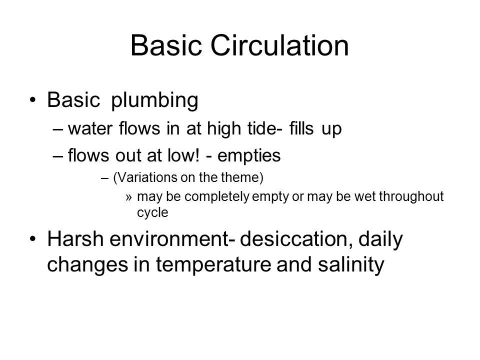 Basic Circulation Basic plumbing