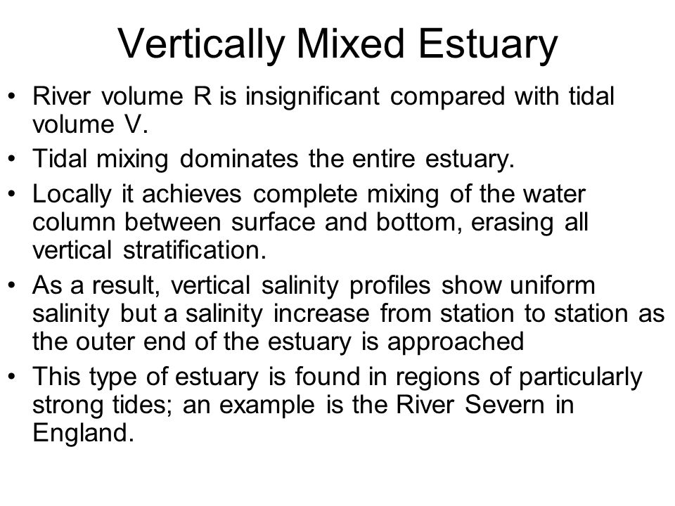 Vertically Mixed Estuary