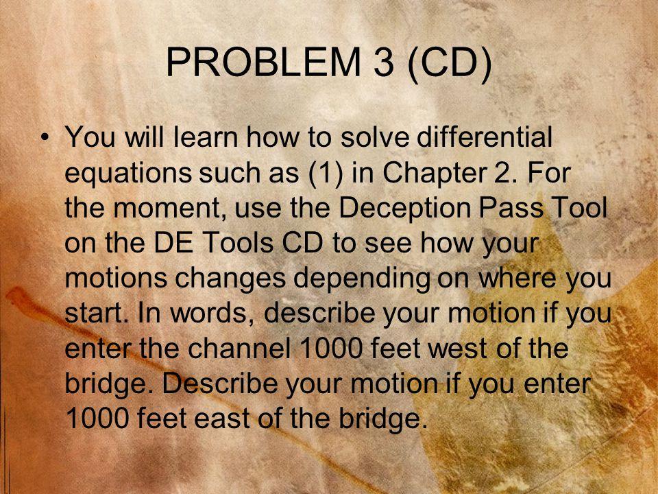 PROBLEM 3 (CD)