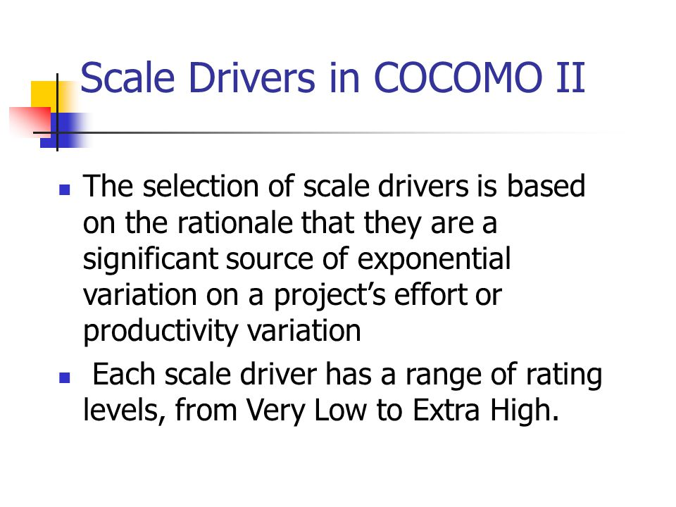 Scale Drivers in COCOMO II