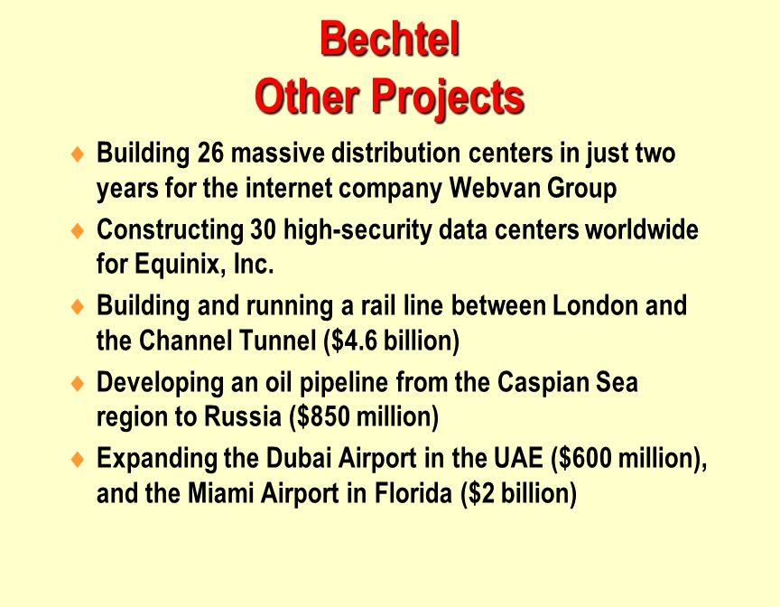 Bechtel Other Projects