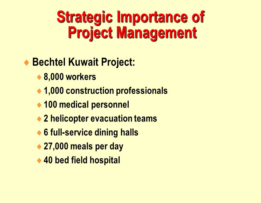 Strategic Importance of Project Management