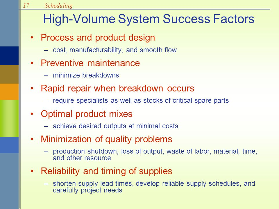 High-Volume System Success Factors