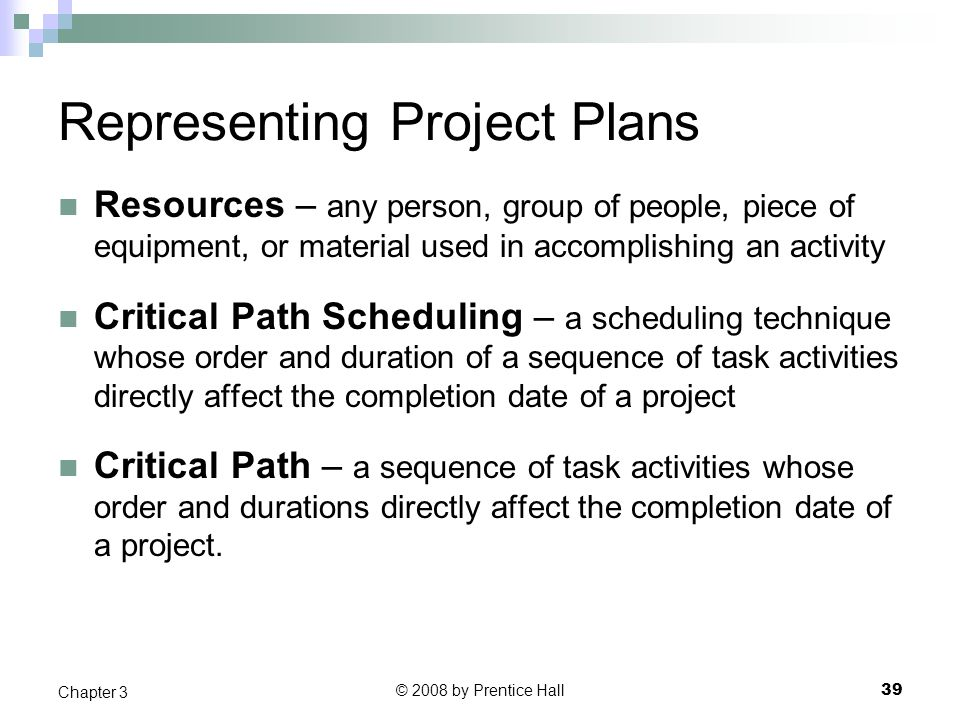 Representing Project Plans